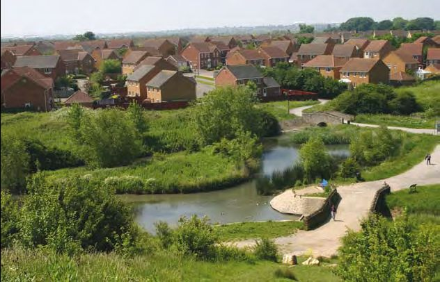 "Bradley Stoke now - viewed from the ""tump"""